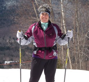 Ruth skiing