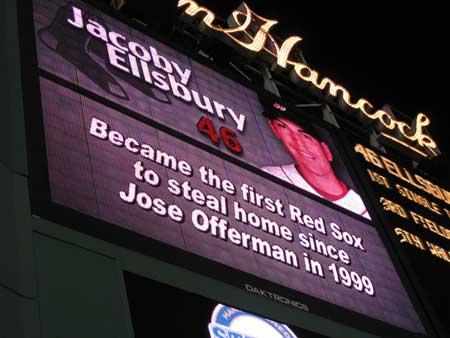 Ellsbury steals home vs Yankees
