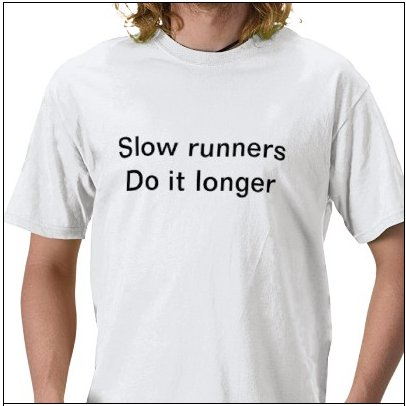 Slow runners do it longer