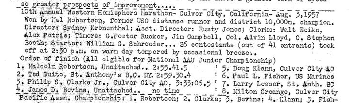 Culver city marathon Aug57