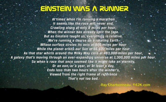 Einstein was a runner