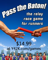 Pass the Baton card game - a great gift for runners!